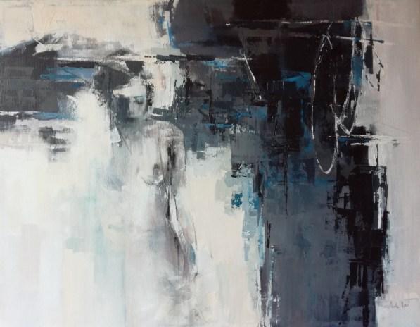 Ada Nori, SURFACING, acrilico su tela, 70x90, 2019