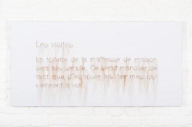 Elyse Galiano, Apolline,Constance et les autres, tecnica mista, 120x120cm, 2014-2018