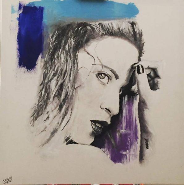 Lorenzo Zenucchini, The Actress, 80x80cm, Acrilico, 2017