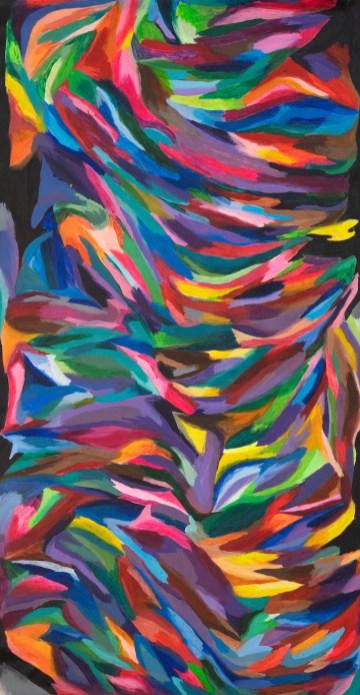 Alice Voglino_Linee in equilibrio_2020_colori acrilici su tela_al vivo cm 215x108
