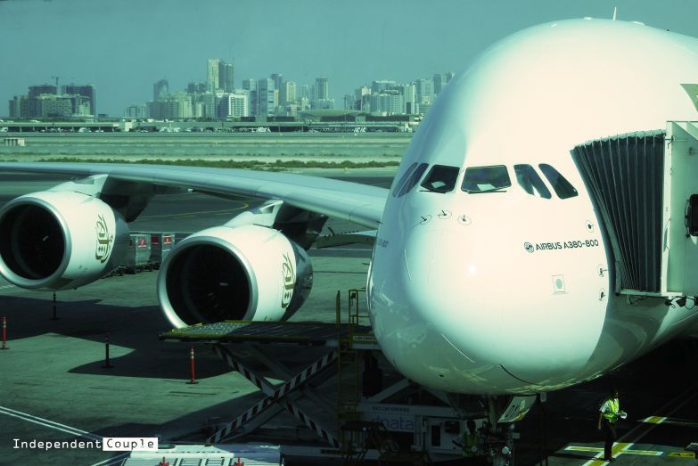 Giant Aircraft Airbus A380 from Emirates