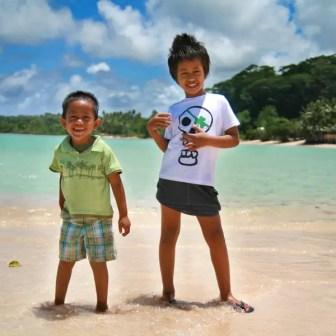 Friendly Samoan kids