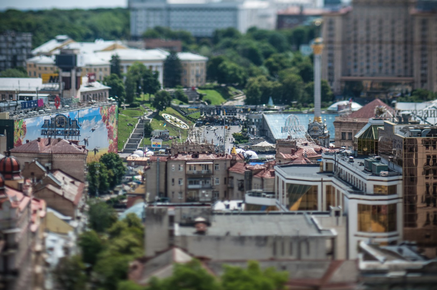 Photo Walk in Tiny Kyiv: Tilt Shift Capital