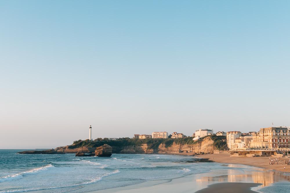 aquitaine biarritz main beach summer casino