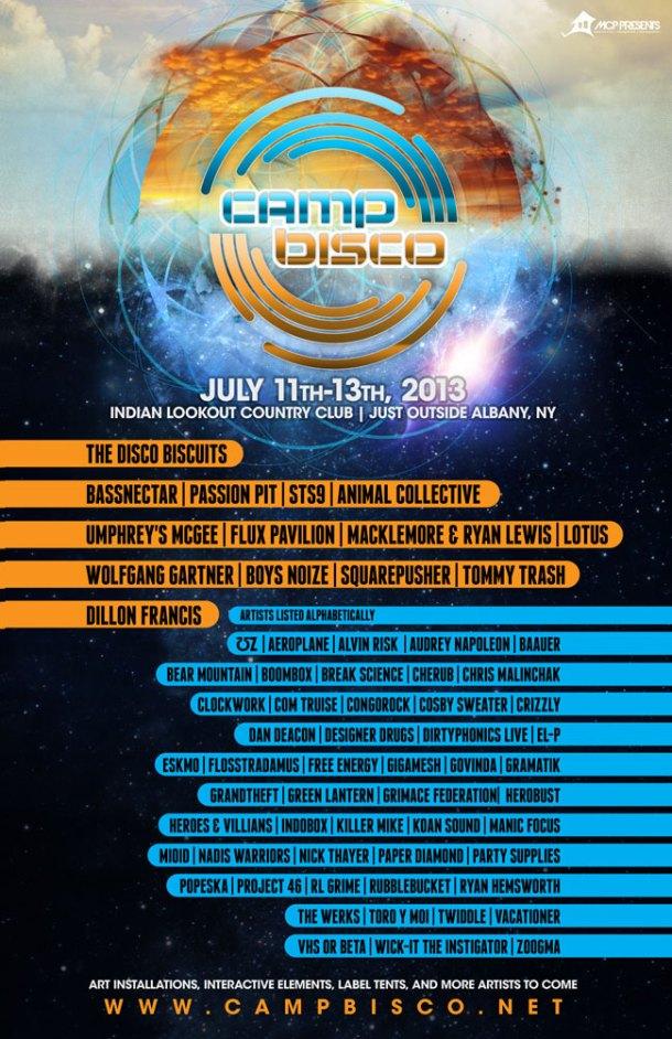 camp bisco 2013 flyer