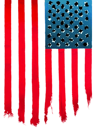 Flag used to advertise the film.