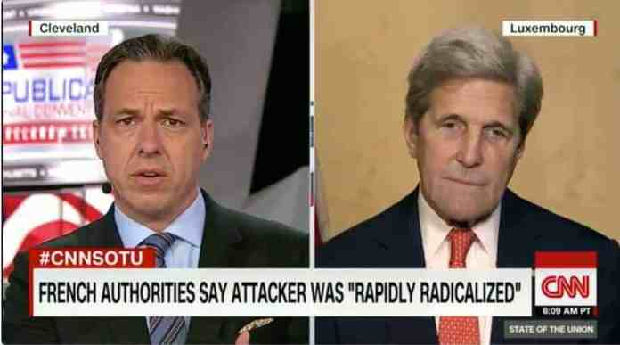 kerry looking with disdain