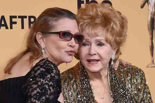Debbie Reynolds seen with her daughter Carrie shortly before their deaths.