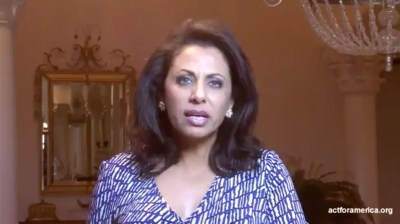 Brigitte Gabriel gives message from Act for America.