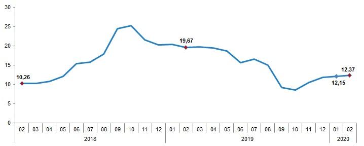 Şubat Ayında Enflasyon Yüzde 12,37'ye Yükseldi