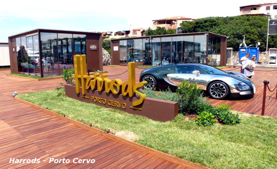 Shopping in Costa Smeralda Harrods Porto Cervo