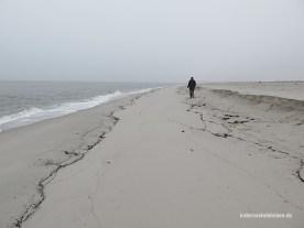 allein am Strand