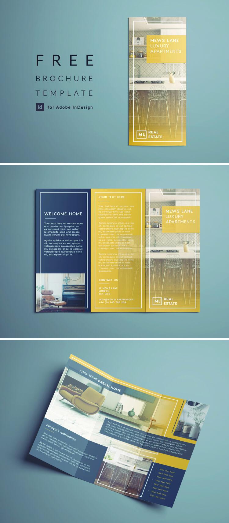 Tri Fold Brochure Free Indesign Template