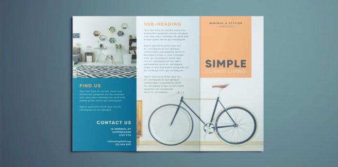 Simple Tri Fold Brochure Free Indesign Template