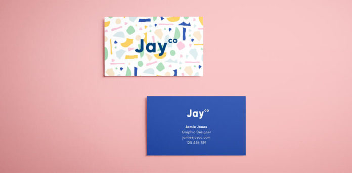 InDesign Business Card Template   Free Download Free InDesign Business Card Template   Terrazzo Effect