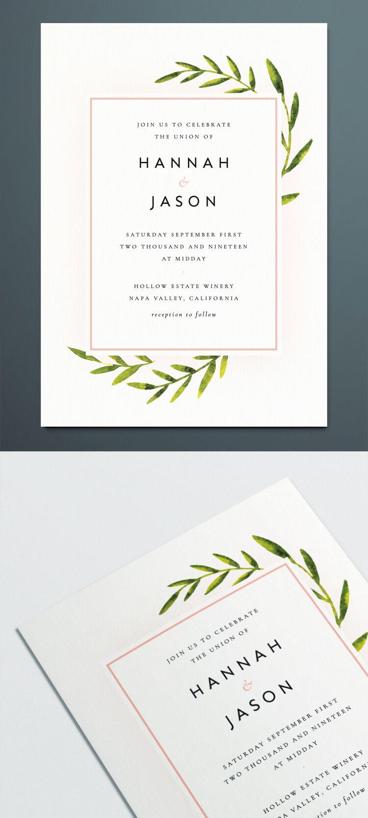 Indesign Wedding Invitation Template With Botanical Vintage Ilration Free Able Design For Diy Invite