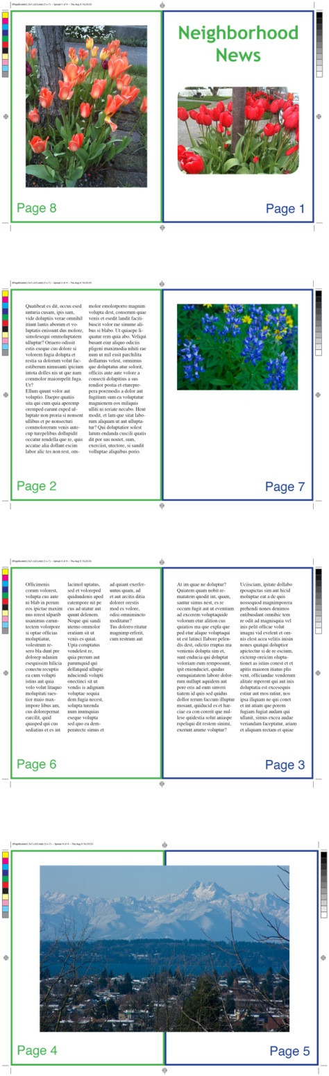 8-Page Booklet from IDImposer