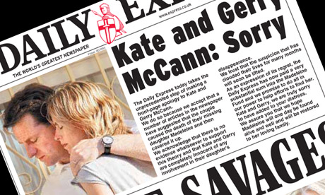 Daily Express Madeleine McCann cover