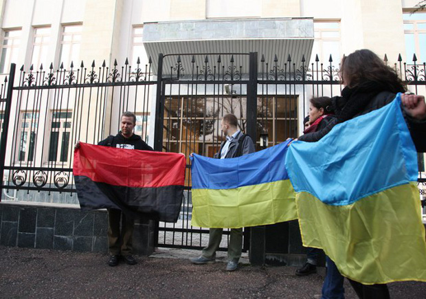 The protest in Tashkent