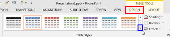 Powerpoint Table Styles