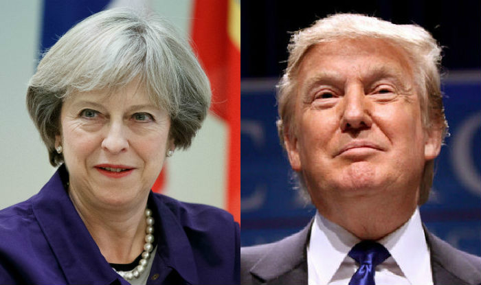 Image result for president trump theresa may