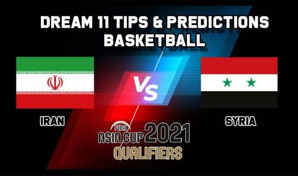 Dream11 Team Iran vs Syria, Basketball IRI vs SYR International Qualifiers