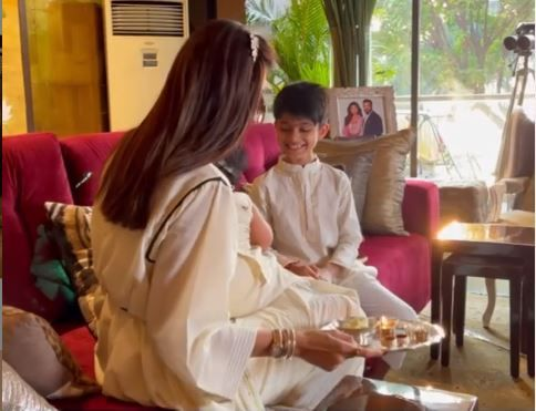 Shilpa Shetty Shares Adorable Video of Children Viaan Raj And Samisha as They Celebrate First Bhai Dooj