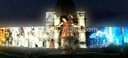 white night on Melbourne Museum