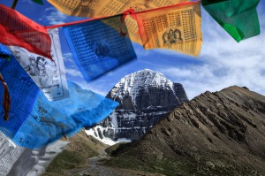 Mount Kailash and Tibetan prayer flags