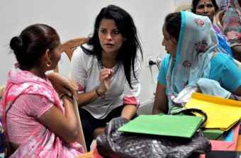 Sukti Dhital hearing stories on the challenges & inhumane treatment women face in accessing the public health system.