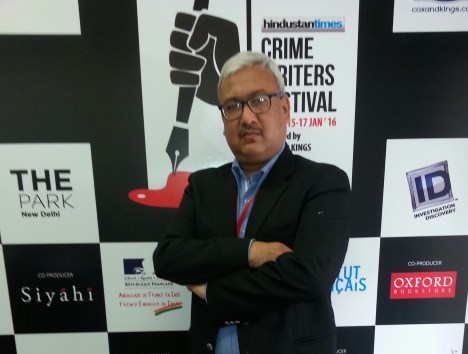 Vivek Agrawal at Crime Writers Festival 2016_20160117_114548-1