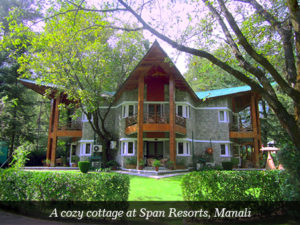 A cozy cottage at Span Resorts, Manali