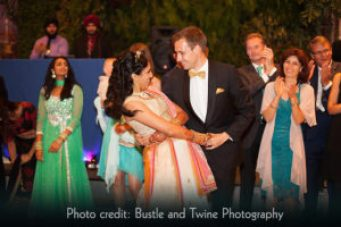 Adeeti Ullal and Johannes Reiter dancing at their wedding