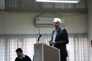 Klaus Pendl speaks at Developers tutorial in Panjab University