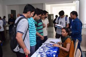 Participants at the registration desk of Developers tutorial at IIIT Hyderabad