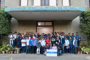 Participants of Hackathon - Group picture at IISc Bangalore