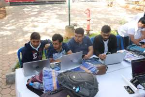 Particpants at Hackathon in IISc Bangalore-3