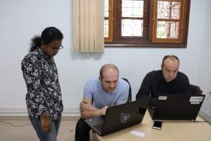 Prof Samir and Prof Laurent at Hackathon in IISc Bangalore-2