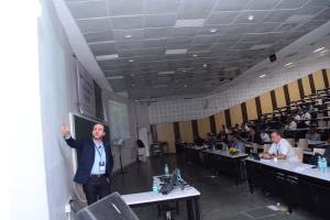 Prof Samir speaks at the Developers tutorial in IIIT Hyderabad-2