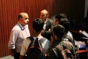 Thierry and Prof Samir engage the participants in a conversation at Developers tutorial in IIIT Hyderabad