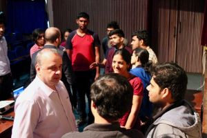 Thierry engages in a conversation at Developers tutorial at IISc Bangalore