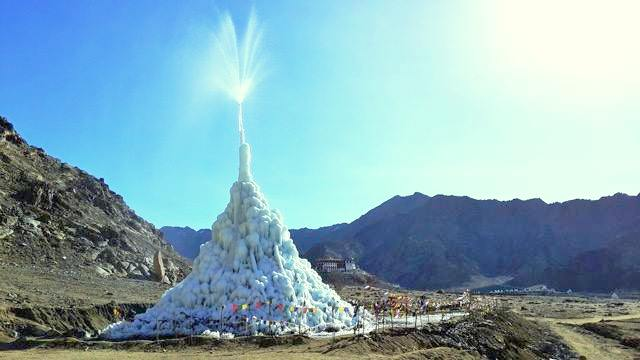 The Ice Stupa in Phyang village, Leh - during Summer of 2016
