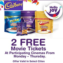 Cadbury Free Movie Tickets Offer