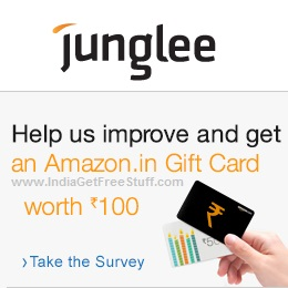 Junglee Customer Survey Free Amazon.in Gift Card worth Rs.100
