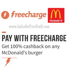 Freecharge McDonalds Cashback Offer