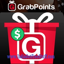 GrabPoints Earn Free Gift Cards Paypal Flipkart Freecharge Rewards