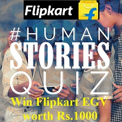 Flipkart Human Stories Quiz Contest