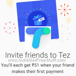 Google Tez Referral Offer Free Rs.51 per invite to App Earn upto Rs.9000