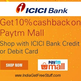 Paytm Mall ICICI Bank Cashback Offer
