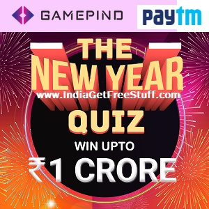 GamePind New Year Quiz Win Prizes Free Paytm Cash Vouchers